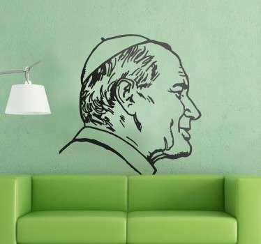 Vinilo decorativo retrato Papa Juan Pablo
