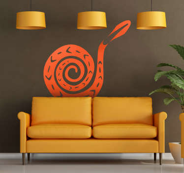 Wall Stickers - Silhouette illustration of a snake with an african style. Available in 50 colours and in various sizes.
