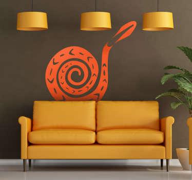 Sticker schelp oranje