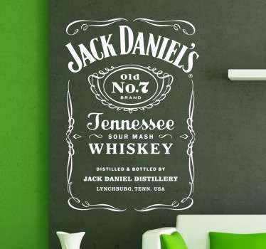 Naklejka etykieta Jack Daniel's