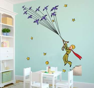 Mural for children's rooms with a representation of the famous story by Antoine Saint-Exupery.