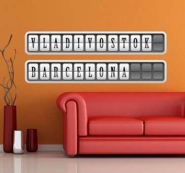 Stickers lettres panneau affichage