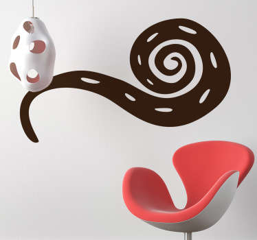 Wall Stickers - Abstract illustration of a snake with an african style. Available in 50 colours and in various sizes.