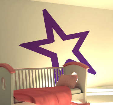 실루엣 스타 윤곽선 벽 스티커