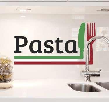 Wandtattoo Pasta