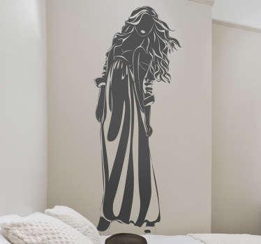Sticker decorativo silhouette donna 10