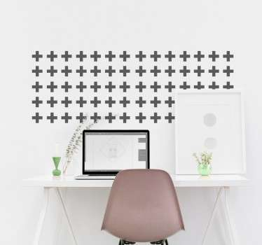 Collection of stickers to decorate any room in an economic and modern way. An adhesive sheet of small crosses that can be applied anywhere.