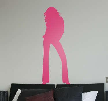 女性の姿勢のシルエットリビングルームの壁の装飾