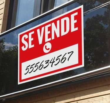Señala claramente si tienes una casa, vehículo o negocio en venta con un vinilo decorativo.