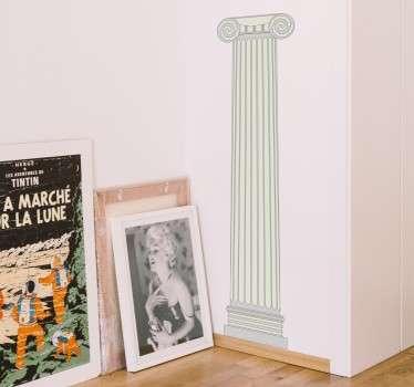 Dekoratives Wandtattoo von einer alten, griechischen Säule. Verleihen Sie Ihrem Wohnzimmer und weiteren Räumen einen antiken und eleganten Look.