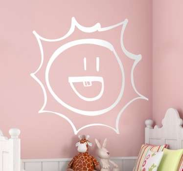 Naklejka na ścianę uśmiechnięte słońce