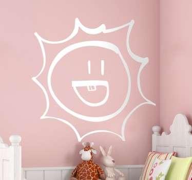 Vinilo decorativo infantil trazo sol