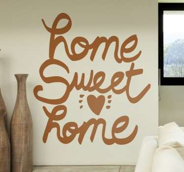"Wall sticker decorativo che raffigura la scritta in inglese "" Home sweet Home""."