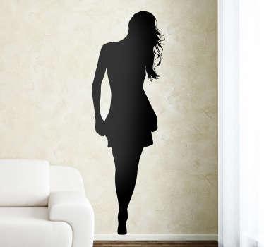 Sticker silhouette femme jupe