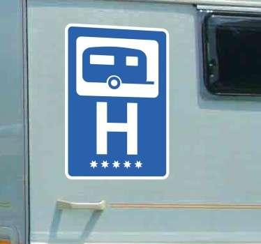 Autocolante decorativo caravana hotel 5 estrelas