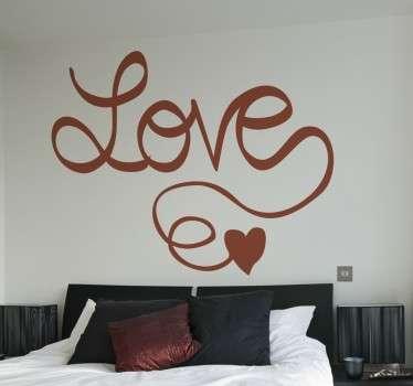 Kärlek i kalligrafi klistermärke