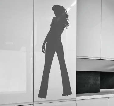 Sticker silhouette de femme