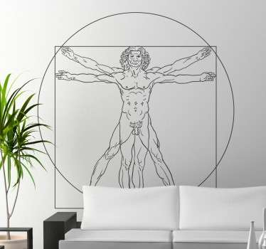 Vinilo decorativo hombre Vitruvio Da Vinci