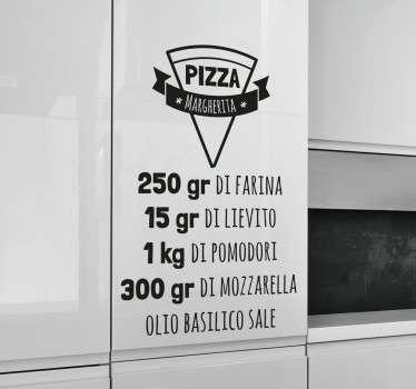 Wall sticker ricetta Pizza Margherita