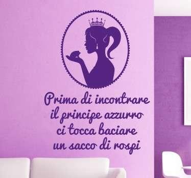 Wall Sticker Principessa e i Rospi