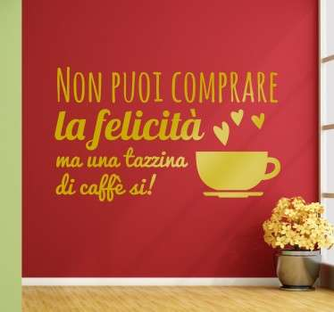 Wall sticker tazzina di caffe