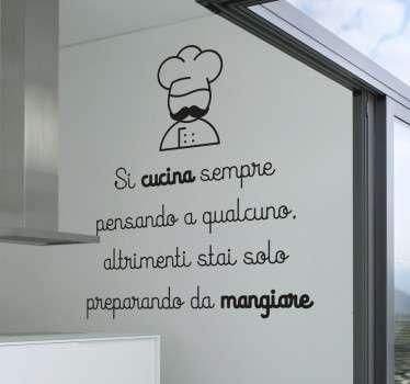 Wall Sticker Si Cucina Pensando a Qualcuno