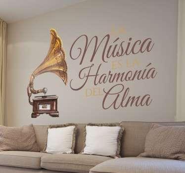 Vinilo decorativo música harmonía alma