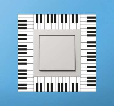 Switch sticker for music lovers who want to decorate their rooms with a bold and elegant detail.