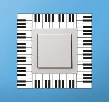 Wandtattoo Klaviertasten Lichtschalter