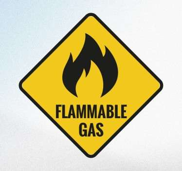 The recognised sign to show that there is dangerous and flammable gas being used.