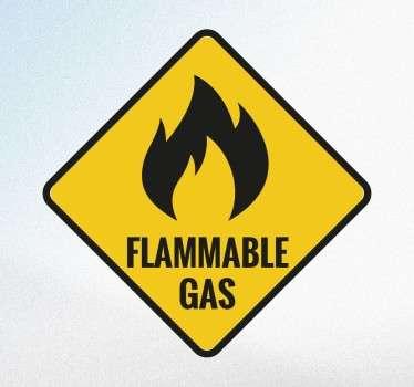 Flammable Gas Sticker