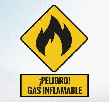 Adhesivo gas inflamable