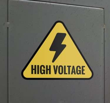 High Voltage Sign Sticker