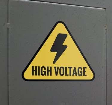 High Voltage Sign Sticker