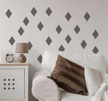 Colección de vinilos decorativos en forma de diamantes, perfectos para añadir ese toque final a la decoración de tu hogar. Este conjunto minimalista de vinilos de pared es justo lo que falta en las paredes de su hogar.