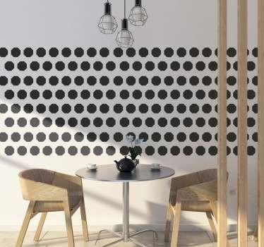 Collection of 48 octagonal stickers that are ideal for decorating any room in your home.