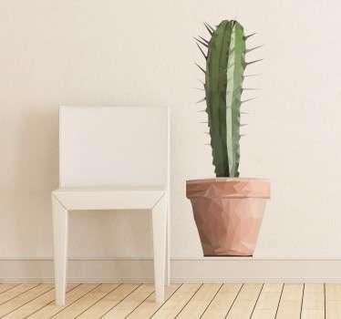 Vinilo decorativo cactus poligonal