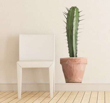 Poligonalna kaktusna nalepka