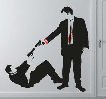 Vinilo decorativo disparo Reservoir Dogs