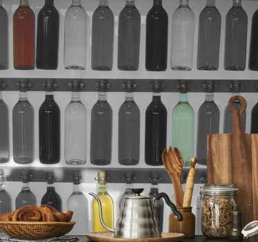 Autocollant mural collection de bouteilles