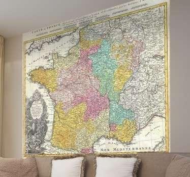 Vinilo decorativo mapa de Francia siglo XVIII
