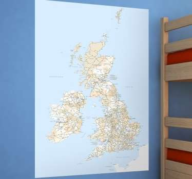 Great Britain Map Sticker