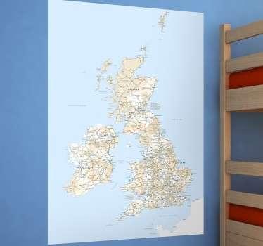 Vinilo decorativo mapa Gran Bretaña