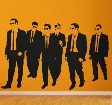 Adhésif décoratif représentant les acteurs principaux du film de Quentin Tarantino : Reservoir Dogs.