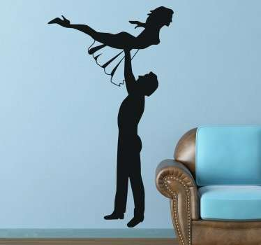 Dance themed sticker with the representation of the main scene of your favourite movie starring Patrick Swayze.