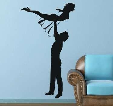 Vinilo decorativo silueta Dirty Dancing