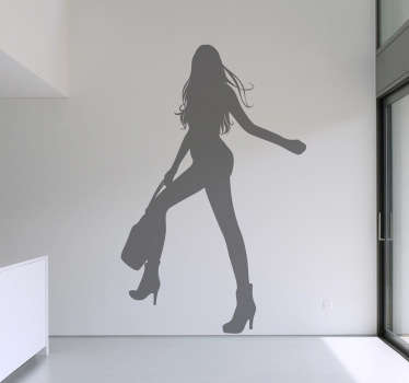 Sticker silhouette femme longues jambes