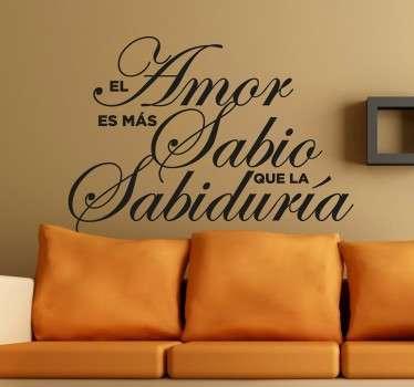 Vinilo decorativo sobre el amor Umberto Eco