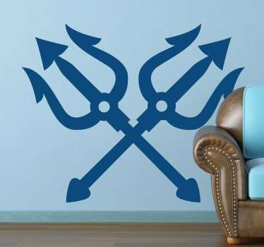 Neptune Crossed Tridents Sticker