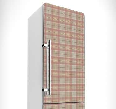 Tartan Texture Fridge Sticker